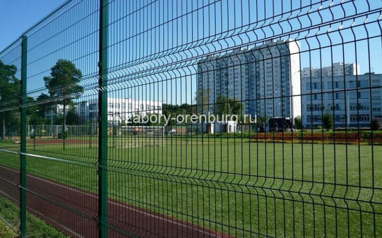 забор из 3д секций