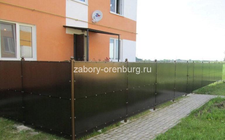 строительство забора из поликарбоната