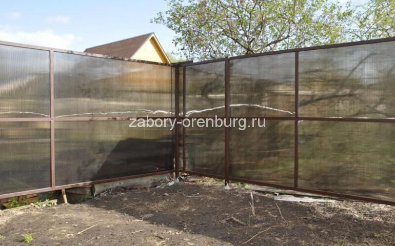 забор из поликарбоната в Оренбурге