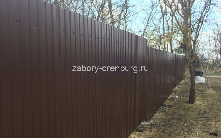 забор из профлиста в Оренбурге